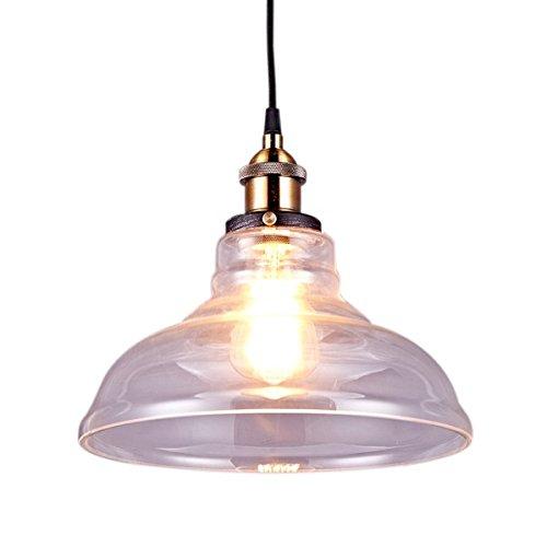 Saint Mossi® Industrie Loft-Pendelleuchte Antik Deko Design Glas Schirm innen Pendelleuchte Hängeleuchte Vintage Hängelampen Hängeleuchte Pendelleuchten E27