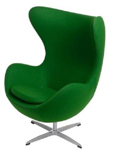 Sessel Stuhl Retro DIXON EGG Gepolstert Armlehnenstuhl Kaschmir Design Vetrostyle gruen