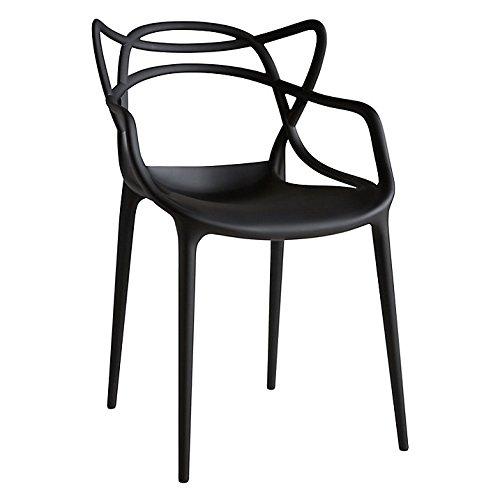 Set von 4Modern Design Esszimmerstühle von kartell philippe STARCK (schwarz)