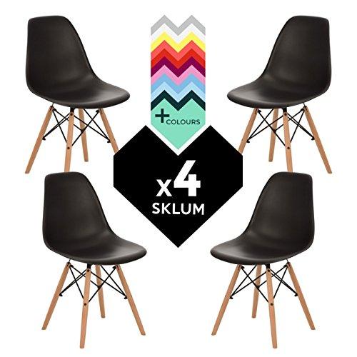 Stuhl IMS Schwarz (4xStühlen) (mehr Farben) SKLUM