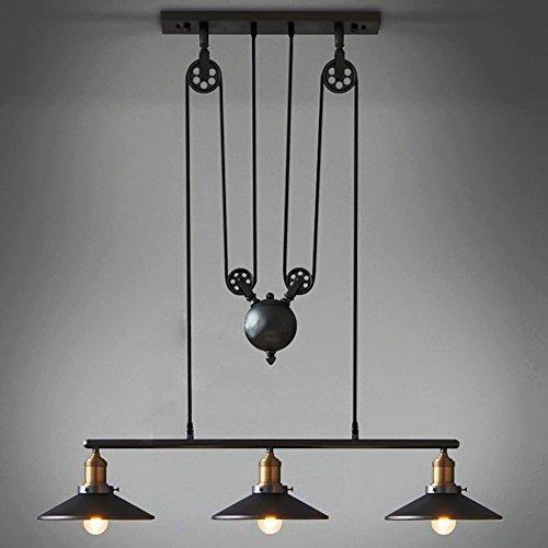 Vintage Industrie Metall Nach unten Hängeleuchten Deckenleuchte Bronze Bar Deckenleuchte Schatten Pendelleuchte Retro Kronleuchter