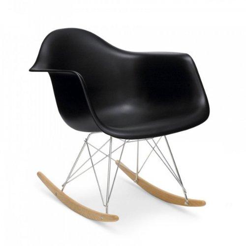 Vitra 4401130001 Stuhl RAR Eames Plastic Armchair Gestell verchromt, schwarz