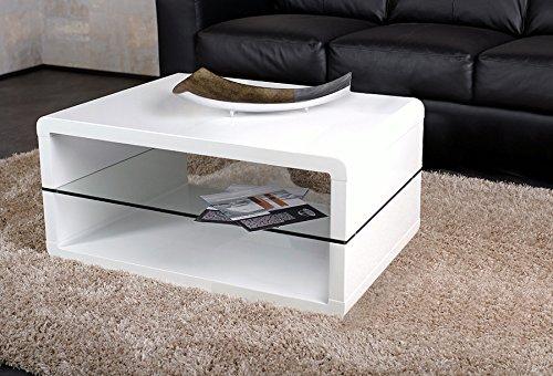 Weiß Hochglanz lackiert Couchtisch Agionda Nomos 90 x 60 cm Exclusiver Designer Couchtisch