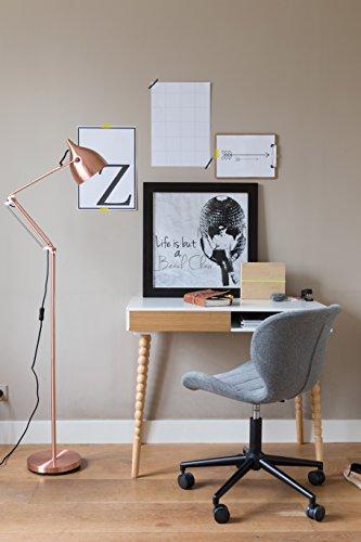 Zuiver 1300001 office stuhl omg, Stoff, schwarz / grau, 65 x 65 x 88 cm