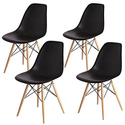 arredinitaly Set 4Stühle Replica Design in Polypropylen schwarz, Qualität 'überdurchschnittlich