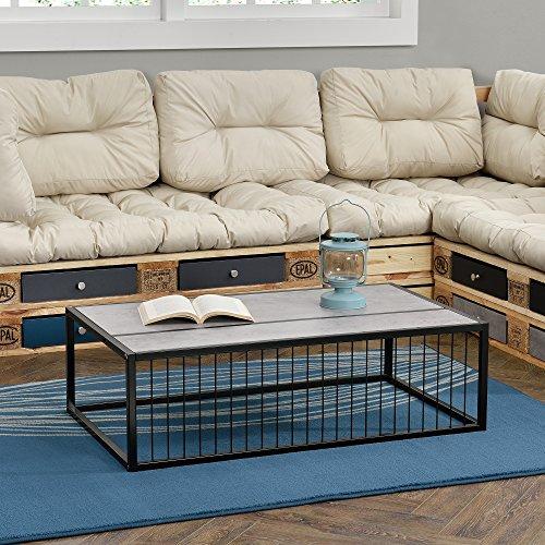 [en.casa]® Couch-Tisch Design MDF - Beton-Optik - 100x60x30cm - Beistelltisch Wohnzimmer