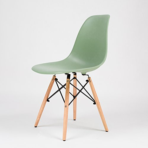 fusionwell Möbel Iconic Eames inspiriert Eiffelturm Retro DSW Esszimmerstuhl Bürostuhl peppermint