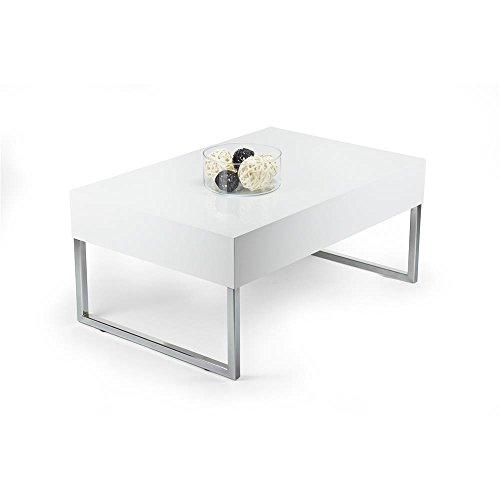mobilifiver Evo XL Couchtisch, Holz, Weiß glänzend, 90x 60x 40cm