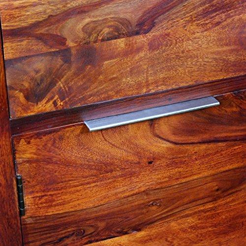 vidaXL Massivholz Sideboard Highboard Anrichte Kommode Sheesham-Holz 100x35x140