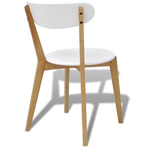 Festnight 6 Stk. Esszimmerstühle Essstuhl aus MDF und Birkenholz Küchenstühle Esszimmerstuhl Stuhlset Küchen Sitzkomfort fürs Küche, Büro und Cafes
