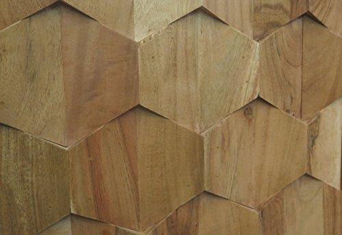 Retro TV-Board Sideboard Honeycomb Akazie Massiv