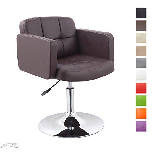 Clubsessel Sessel Kunstleder Braun Esszimmerstuhl Lounge Sessel höhenverstellbar drehbar Farbauswahl - TYP 524A