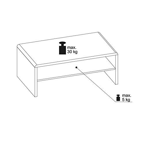 CARO-Möbel Couchtisch TV Lowboard Fernsehtisch LEXA, in Betonoptik, 120 x 40 cm, mit Ablagefach
