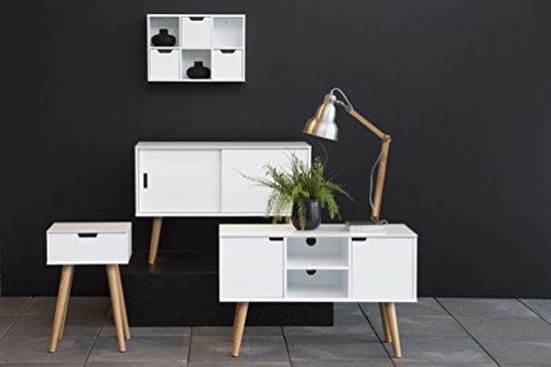 AC Design Furniture 60602 Anrichte Mariela, Türen 2 Stück, 100 x 38 x 69,5 cm, Holz, weiß