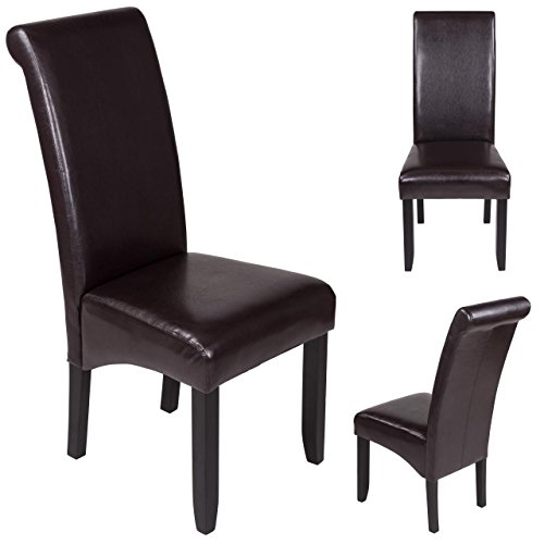 Esszimmerstuhl Sanzaro Stuhl Küchenstuhl Polsterstuhl Stuhlgruppe Stuhl Dunkelbraun