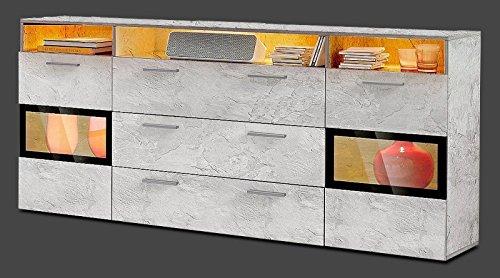 Generic Sideboard Wohnzimmer WOHNWAND ANBAUWAND Beton-Optik Matt Neu 452893