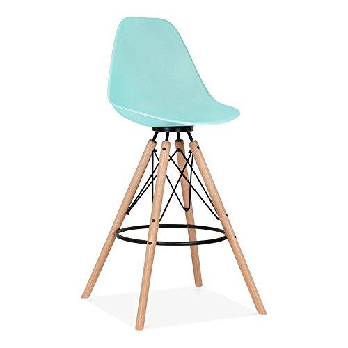 Cult Design Moda Barhocker mit Rückenlehne CD3 - Pastellblau