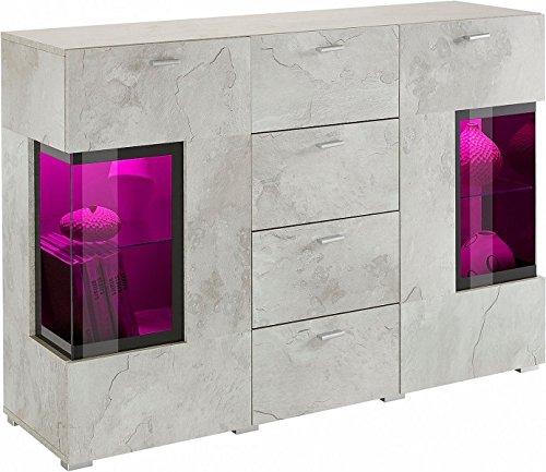 Generic Sideboard Wohnzimmer WOHNWAND ANBAUWAND Beton-Optik Matt Neu 643444