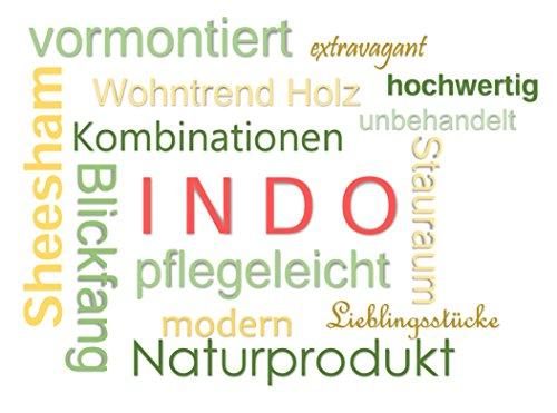 Quadrato - Sideboard / Kommode INDO, Holz Sheesham natur, Maße: B 145 x H 80 x T 40 cm