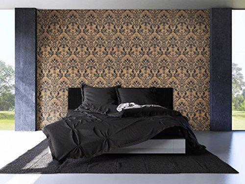 NEWROOM Barocktapete Braun Vliestapete Ornamente Barock schöne moderne und edle Design Optik , inklusive Tapezier Ratgeber