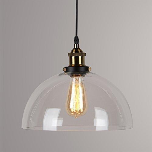 Lightsjoy Vintage Lampen Industrie Hängeleuchte Vintage Glas Pendelleuchte Industrial Hängelampe Retro Deckenleuchte Hängend E27 für Wohnzimmer Schlafzimmer Küche Esszimmer Esstisch usw.