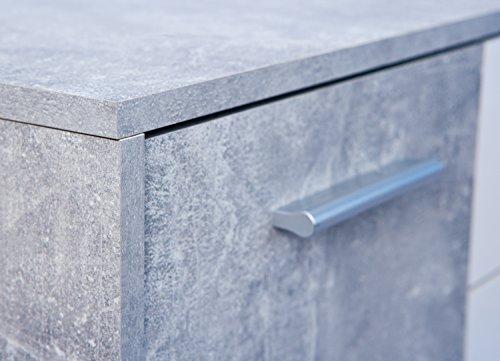 Inter Link Kommode Sideboard Anrichte Aktenschrank Dielenschrank FSC KF-Board Beton Nachbildung und Weiss