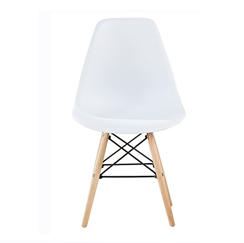 MCC Retro Design Stühle LIA im 2er Set, Eiffelturm inspirierter Style für Küche, Büro, Lounge, Konfernzzimmer etc., 6 Farben, KULT (weiss)