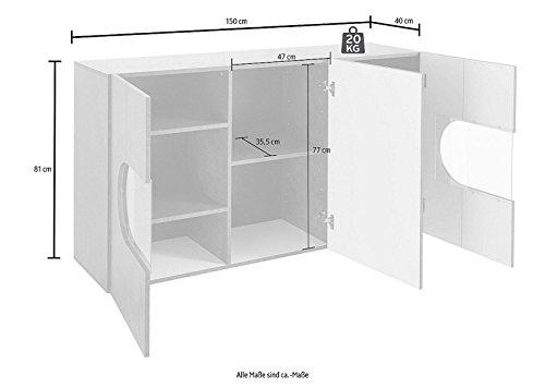 Generic Sideboard Wohnzimmer WOHNWAND ANBAUWAND Beton-Optik Matt Neu 56006730