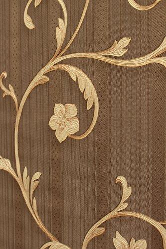 Vinyltapete Tapete Barock Retro # braun/gold # Fujia Decoration # 22521