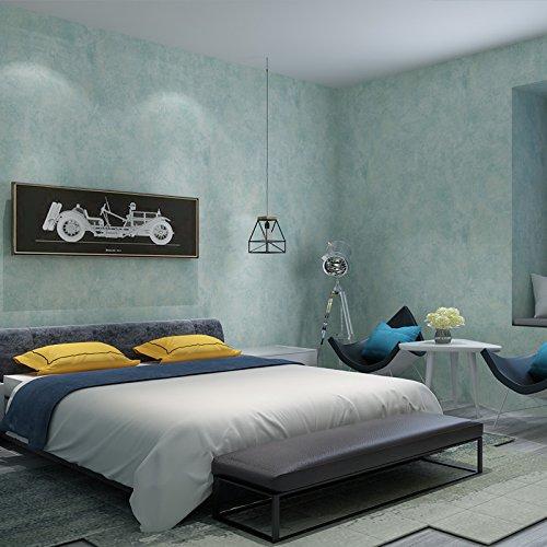 SISANLAI Amerikanische Weinlese-reine Farben-Retro Art-Vlies Tapete moderne minimalistische Schlafzimmer-Wohnzimmer-nordische Tapete, 9.5 * 0.53M