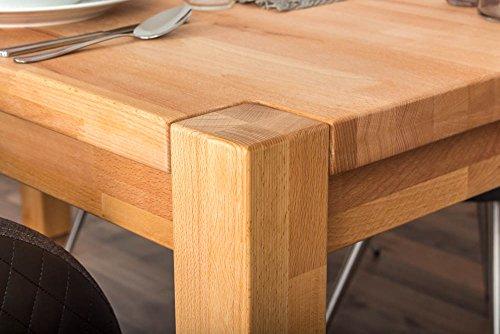 Wooden Nature Esstisch-Set 341 inkl. 4 Stühle (cappuccino), Buche Massivholz - 160 x 90 (L x B)