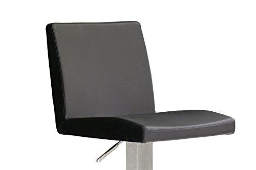Robas Lund Stuhl, Barstuhl, Barhocker, Lo.pes, 360 Grad drehbar, Edelstahl/schwarz, 52 x 40 x 110 cm, LORE10SX