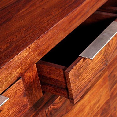 Festnight Sideboard Kommode Massiv Sheesham-Holz 160×35×75 cm