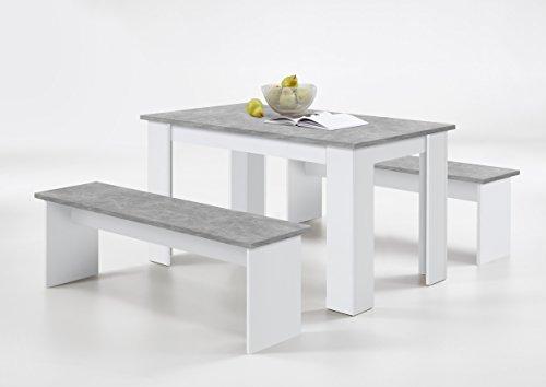Wohnorama DORNUM Sitzgruppe von FMD Beton/Weiss by