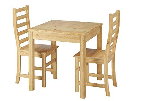 Erst-Holz® Schöne Essgruppe mit Tisch und 2 Stühle Kiefer natur Massivholz 90.70-50 C -Set 21