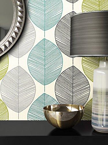 Tapete Natur Modern Blumen Floral | schöne edle Tapete im natürlichen Design | moderne 3D Optik für Wohnzimmer, Schlafzimmer oder Küche inkl. Newroom-Tapezier-Profibroschüre mit super Tipps!