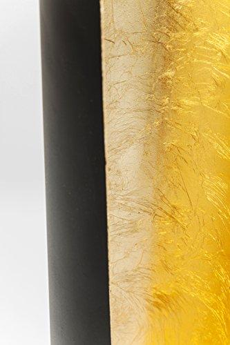 Kare Stehlampe Tube Duo, 61165, moderne Designer LED-Standleuchte, schwarz-gold (H/B/T) 140x26x26cm