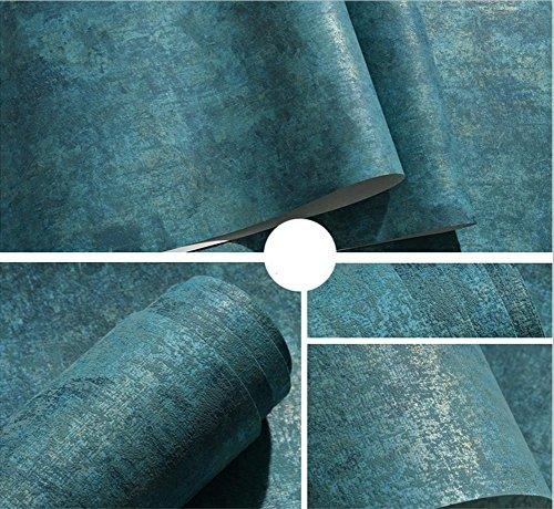 H&M Einfache Retro Vlies Normallack Tapete Wohnzimmer Schlafzimmer TV Hintergrund Wallpape Wohnzimmer Schlafzimmer TV Hintergrund Tapete 0.53 * 9.50 (m) -Navy blau / gelb / hellblau / dunkelgelb / cremig co , navy blue