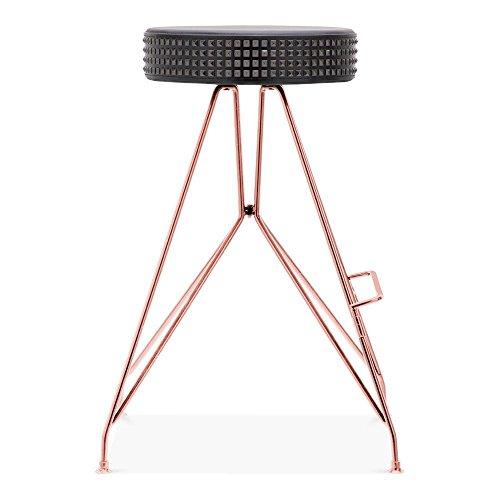 Cult Design Moda Metall Barhocker CD1, Kunstleder Sitz mit Nieten, Kupfer 66cm
