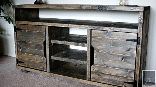 KRUD K26~ Treibholz ~ Retro Sideboard mit einem Regal ~ Massivholz ~ Gerüst-Stil handgefertigt 24Farben ~ Industrie ~ geschoben ~ Rustikal ~ Country ~ SCHRANK