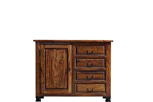 Kolonialart Sheesham Massivmöbel lackiert Sideboard Palisander vollmassiv Möbel massiv Holz NEW BOSTON #208