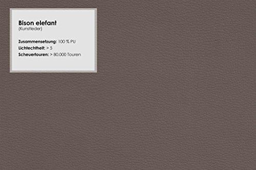 Cavadore Wohnlandschaft Leriot / Schlafcouch mit Kunstleder / Longchair rechts oder links montierbar / Inkl. Bettkasten, Rücken- und Zierkissen / 365 x 86 x 200 cm (BxHxT) / Braun - Hellbraun