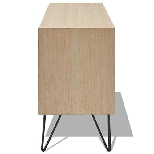 vidaXL Anrichte Sideboard Kommode Wohnzimmerschrank Retro Braun 100x30x50 cm MDF