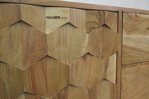 Retro Sideboard Kommode Honeycomb Akazie Massiv