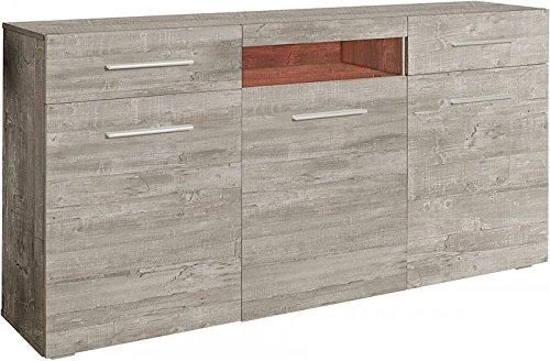 Generic Sideboard Wohnzimmer WOHNWAND Beton-Optik Matt AUSSTELLUNGSSTÜCK 745603