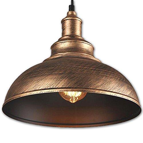 FLTRADE Hängeleuchte Industrielampe Metall Vintage Lampenschirm LED Lampen Hängelampe Hängeleuchte Deckenleuchte Pendelleuchte Edison Industriebeleuchtung Eisen Kürbisflasche Pendelleuchte Lampe Φ 30cm