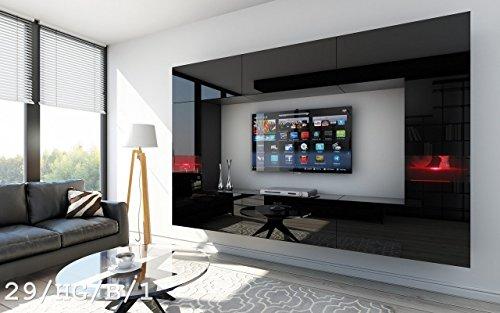 FUTURE 29 Moderne Wohnwand, Exklusive Mediamöbel, TV-Schrank, Schrankwand, TV-Element Anbauwand, Neue Garnitur, Große Farbauswahl (RGB LED-Beleuchtung Verfügbar)