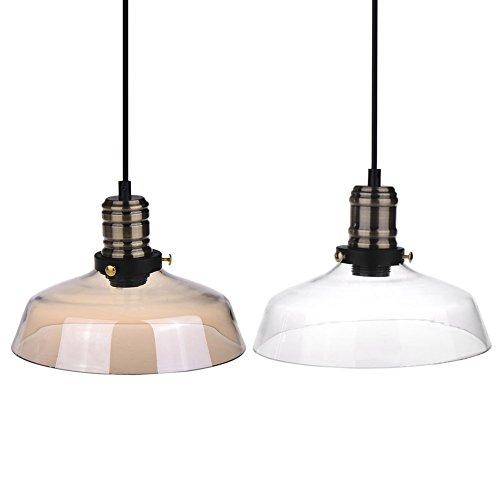 Moderne Vintage Retro INDUSTRIE loft Glasdeckenlampenschirm Pendelleuchte