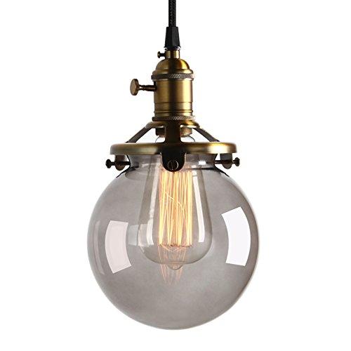 Pathson Antik Deko Design Rauchglasoptik innen Pendelleuchte Hängeleuchte Vintage Industrie Loft-Pendelleuchte Hängelampen Hängeleuchte Pendelleuchten