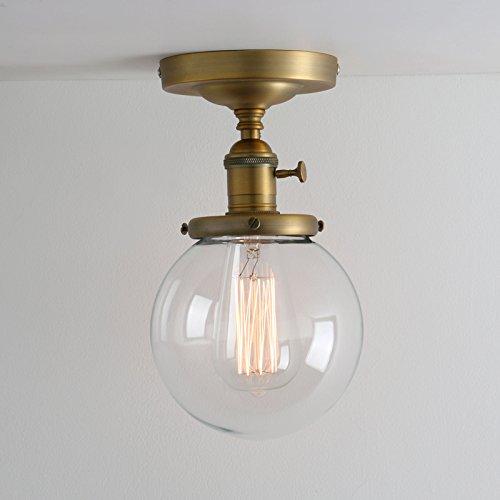 Pathson klar Glas innen Pendelleuchte Hängeleuchte Vintage Industrie Loft-Pendelleuchte Hängelampen Hängeleuchte Pendelleuchten Antik Deko Design